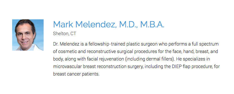 Dr. Melendez named one of Connecticut's top plastic surgeons by America Top 10